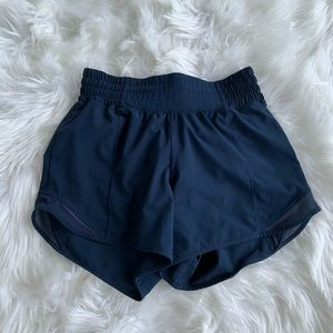 LULULEMON true navy high rise hotty hot shorts